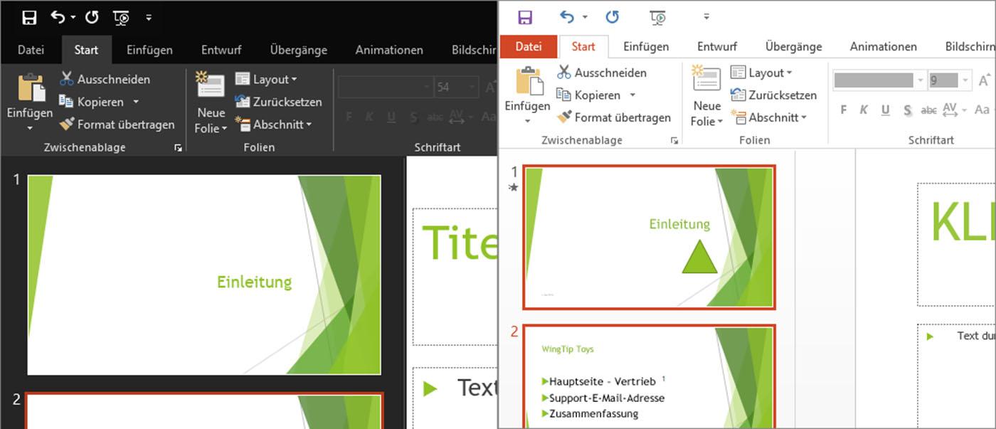 Office 2016 Erscheinungsbild (Themefarbe) ändern