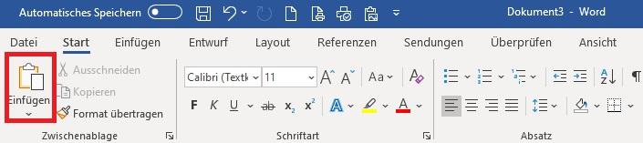 Einfach und schnell Tabellen und Diagramme aus Excel in Word einfügen