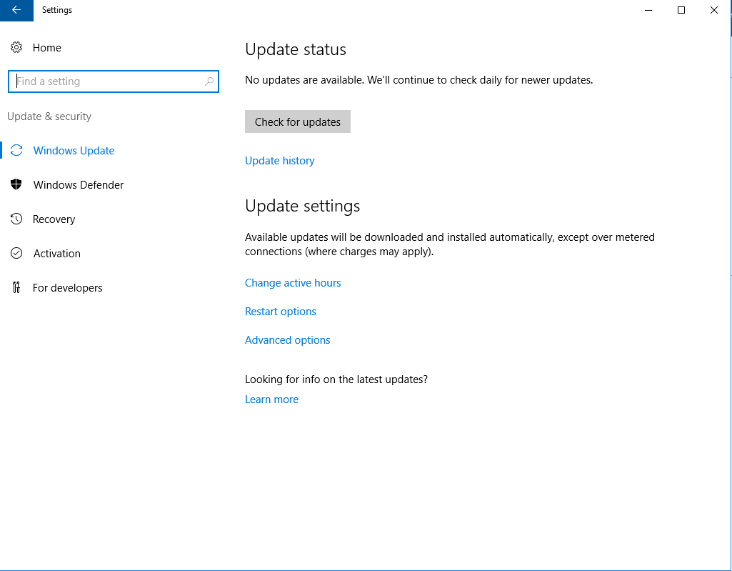 Windows Server 2016 Update installieren