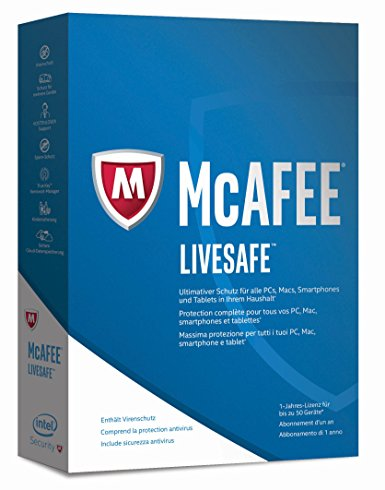 McAfee LiveSafe (50 Device - 1 Jahr)
