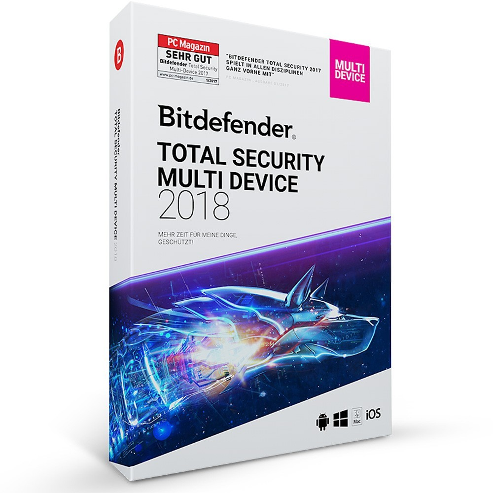 Bitdefender 2018 Total Security (5 PC -1 Jahr) MD