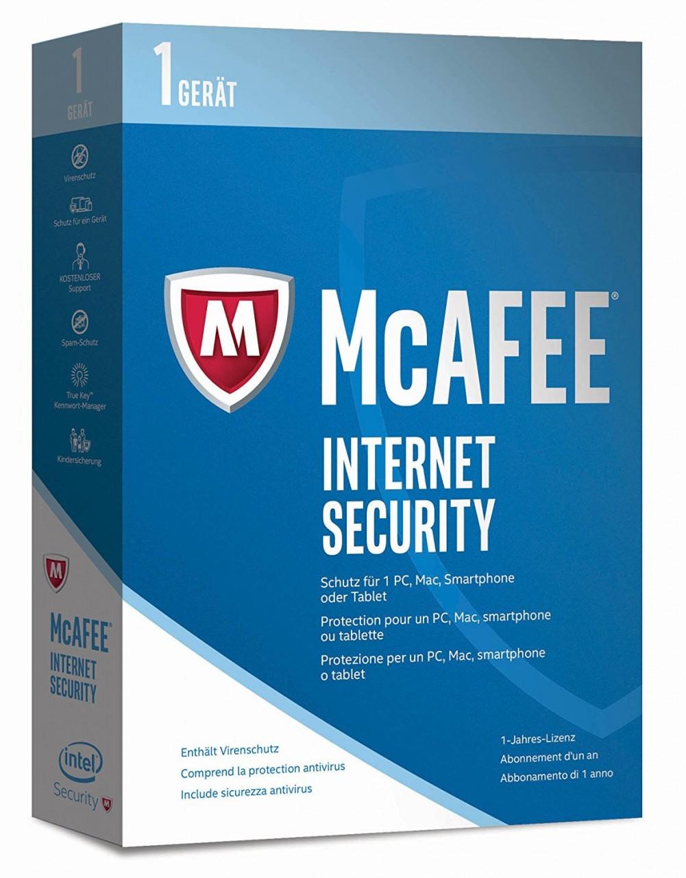 McAfee Internet Security 1 PC - 1 Jahr