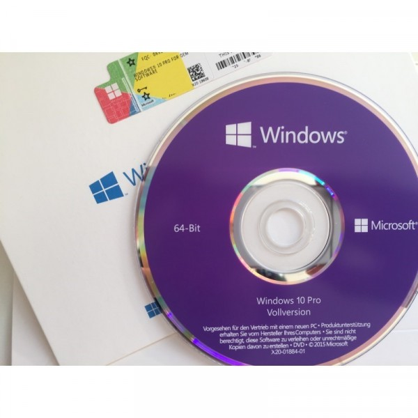 Microsoft Windows 10 Professional inkl. DVD